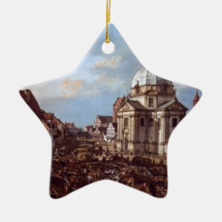 Church of the Holy Sacrament in the New Town Double-Sided Star Ceramic Christmas Ornament