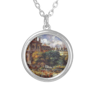 Church of the Holy Trinity in Paris Round Pendant Necklace