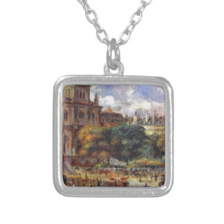 Church of the Holy Trinity in Paris Square Pendant Necklace