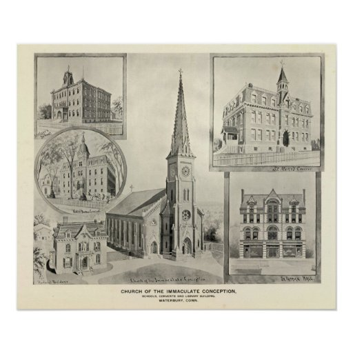 Church of the Immaculate Conception, Waterbury Poster