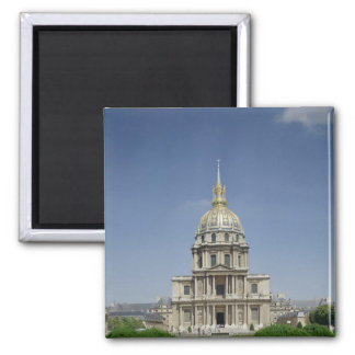 Church of the Invalides, built 1679-1708 2 Inch Square Magnet