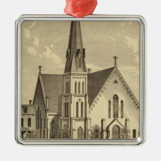 Church of the Sacred Heart East Liberty Square Metal Christmas Ornament