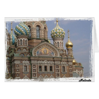 Church of the Spilled Blood St. Petersburg, Russia Card