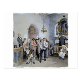 Church Offering Postcard