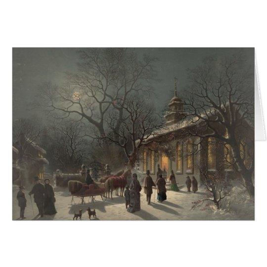 Church on Christmas Eve Card