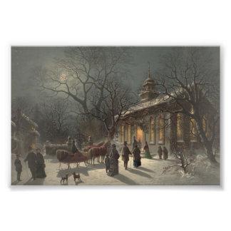 Church on Christmas Eve Photo Print