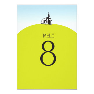 Church on Hill Table Number