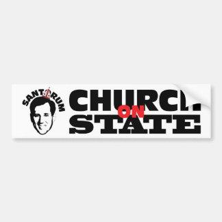 Church on State Santorum Bumper Sticker