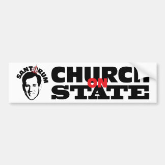 Church on State Santorum Car Bumper Sticker