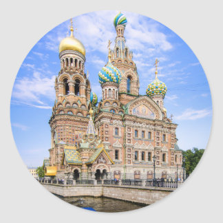 Church on the Spilled Blood, Russia Classic Round Sticker