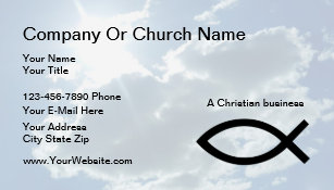 church or christian business cards - Church Business Cards