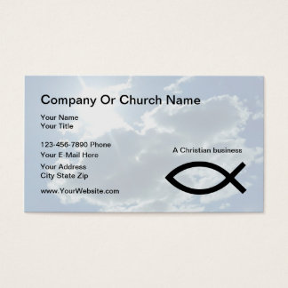 Church Or Christian Business Cards