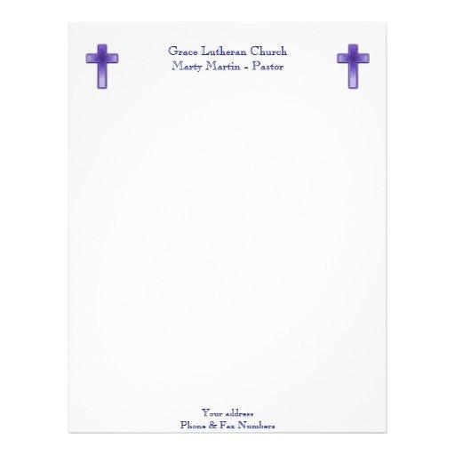 church or pastor letterhead zazzle
