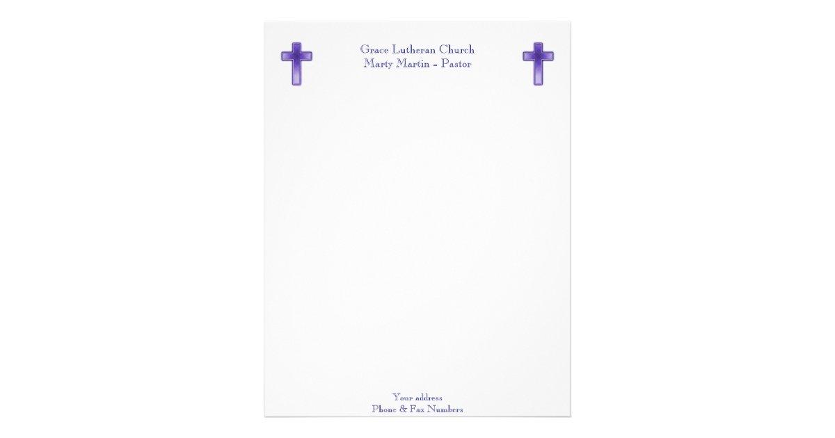 Sample Church Letterhead Templates on