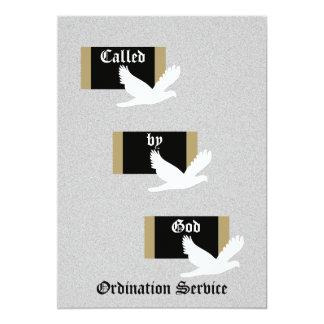 "Church Ordination Invitation -- Called by God 5"" X 7"" Invitation Card"