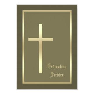 Church Ordination Invitation -- Cross Invitation Invitations