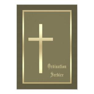 Church Ordination Invitation Cross