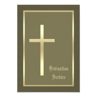 Church Ordination Invitation Cross Invitation