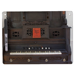 Church Organ Dry Erase Board With Keychain Holder