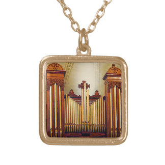 Church Organ Gold Plated Necklace