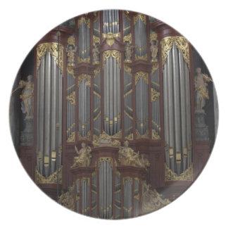 Church organ melamine plate