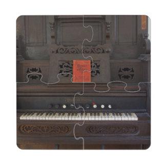 Church Organ Puzzle Coaster