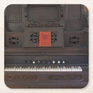 Church Organ Square Paper Coaster