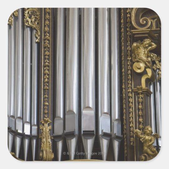 Church Organ Square Sticker