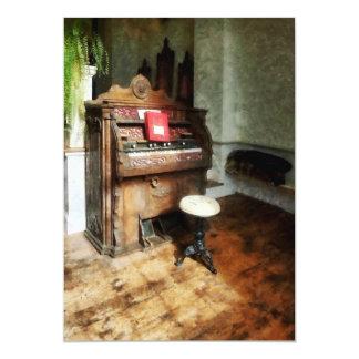 Church Organ With Swivel Stool Card