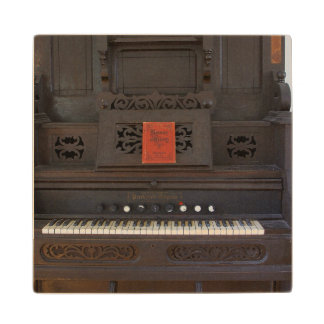 Church Organ Wooden Coaster