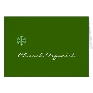 Church Organist Snowflake Card