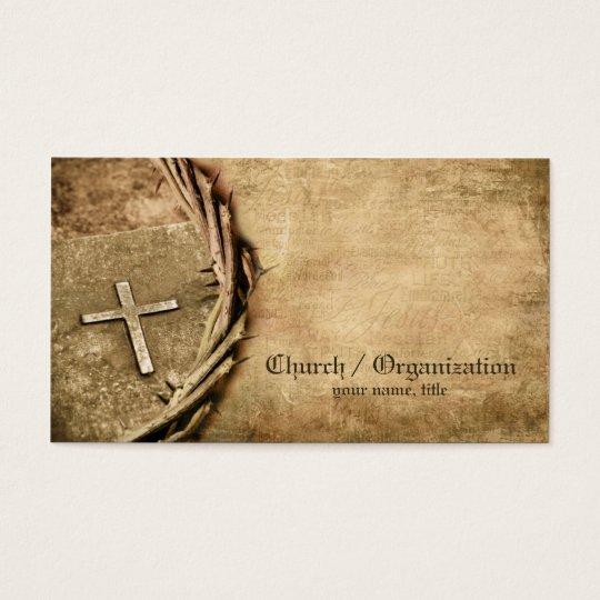 Church / Organization Aged Cross Business Card