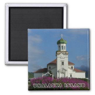 Church~ ortodoxo ruso Unalaska, AK Imán Cuadrado
