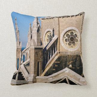 Church Overlooking the Ocean Throw Pillow