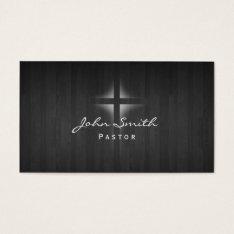Church Pastor Elegant Dark Wood Background Business Card at Zazzle