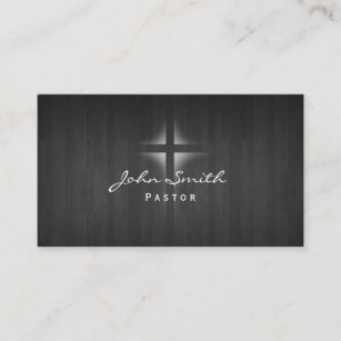 Wood background business cards zazzle church pastor elegant dark wood background business card colourmoves