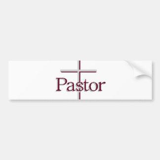 Church Pastor Gray Cross Bumper Sticker