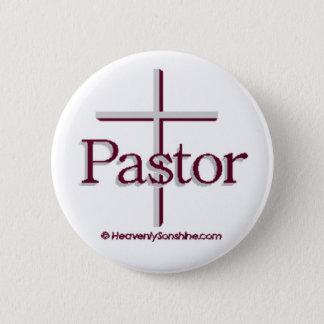 Church Pastor Gray Cross Button