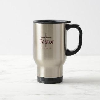 Church Pastor Gray Cross Travel Mug