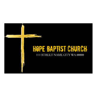 Church Pastor Religion Christian Christianity Double-Sided Standard Business Cards (Pack Of 100)