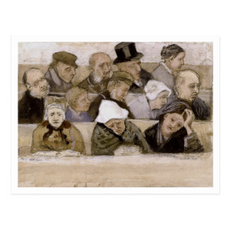 Church Pew with Worshippers, Vincent van Gogh Postcard