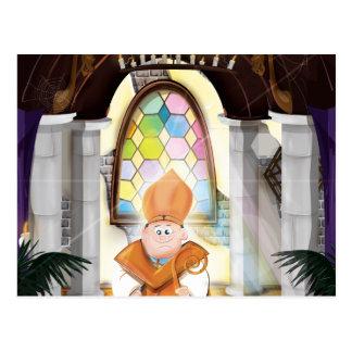 Church Priest Postcard