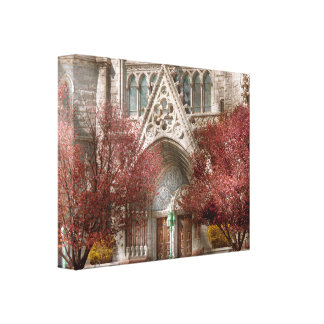 Church - Psalm one to talk to Stretched Canvas Print