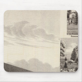 Church, residences & flouring mill mouse pad