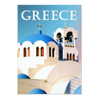 Church Roof and Bell Tower Greece Custom Announcement