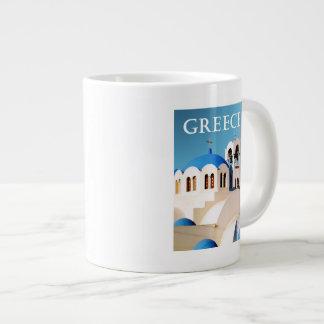 Church Roof and Bell Tower Greece Large Coffee Mug