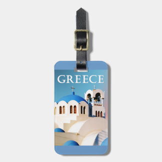 Church Roof and Bell Tower Greece Tag For Bags