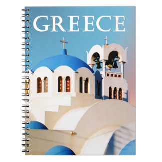 Church Roof and Bell Tower Greece Notebook