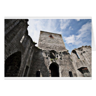 Church Ruins in Visby Sweden Card