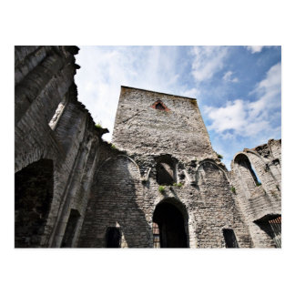 Church Ruins in Visby Sweden Postcard